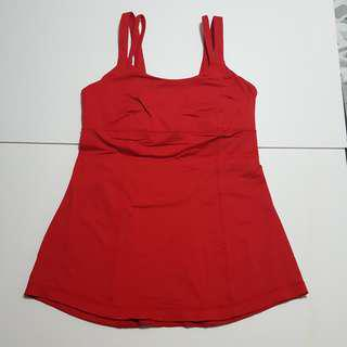 Red tank top Sz 8