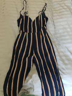 Navy stripped jumpsuit