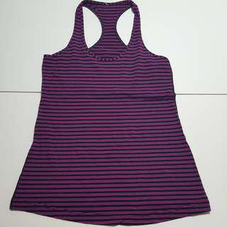 Striped purple and  pink tank top Sz 6/8