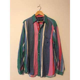 Vintage Nautica Pastel Button Up Shirt