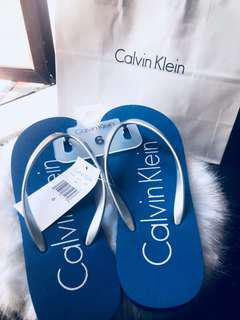 Calvin Klein Blue Flip Flops for Women Brand New with Tag