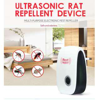 Electronic Ultrasonic Anti Pest Bug Mosquito Cockroach Mouse Killer Repeller - EU Plug