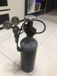 2L CO2 Tank with Solenoid