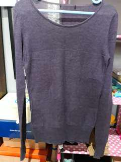 Outer sweater purple