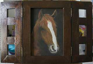 Brown Beauty Horse Painting Unusually framed