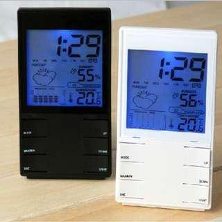 Electronic Alarm Clock Weather Forecast Station Thermometer Moisture Meter Electronic Clock Perpetual Calendar weltbild