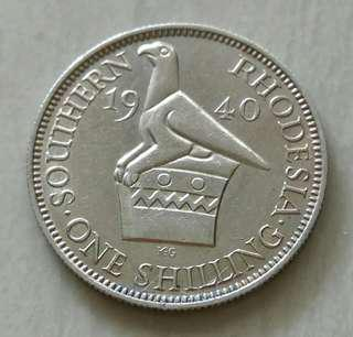 Southern Rhodesia 1940 Silver Coin With Good Details