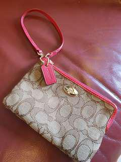 Coach Wristlet Red & Pink