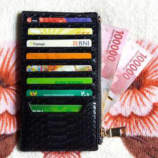 CARD HOLDER SNAKE SKIN || DOMPET KARTU