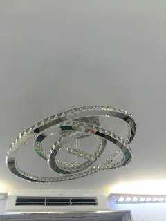 4環水晶方片燈 三色光源 有遙控