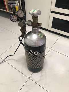 5L CO2 tank with Solenoid (Full)