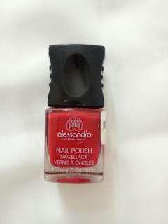 Alessandro red nail polish kutex