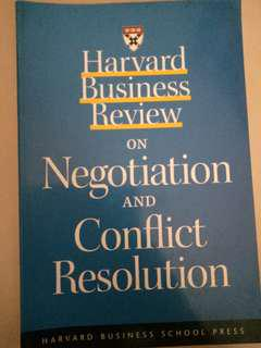 HBR on Negotiation and Conflict Management