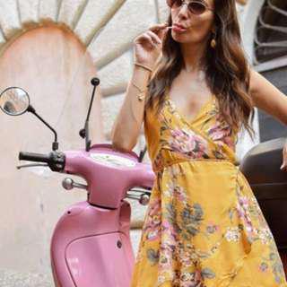 Mink Pink wrap dress - size 6/XS