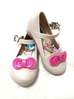 Jelly Shoes Ribon Pinky