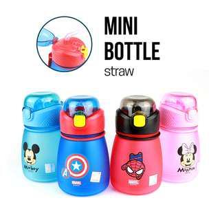 ✳️Free Gift✳️Disney Avenger Kids Water Bottle Mini Bottle with straw BPA-Free 390ml