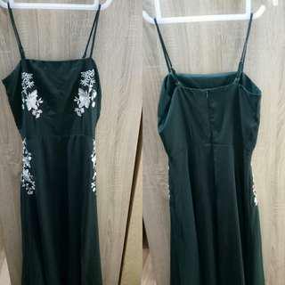 Mds maxi dress in green