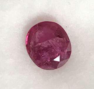 1.30 cts NATURAL Srilankan Ruby 6.1 x 6.9 mm Loose Gem