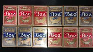 日本matsui25週年紀念BEE大蜜蜂撲克牌V1,V2共12副一條
