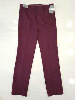Crocodile skinny pants (maroon)