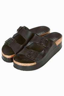 Topshop Birkenstock Inspired Platform Sandals (black)