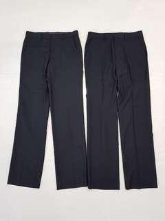Business pants - black Teteron Rayon material (cooling)