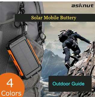ASKNUT Powerbank waterproof solar mobile power 10000mah