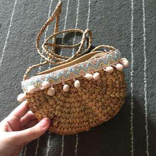 Rattan Sling Handbag