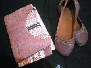 Set tribal blouse & flatshoes