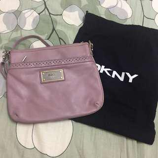 Authentic Leather DKNY Sling Crossbody Handbag