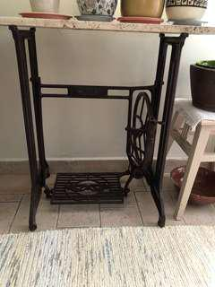 Sewing machine leg table