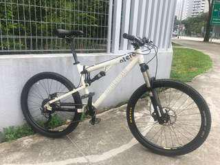 XT Mongoose full suspension bicycle