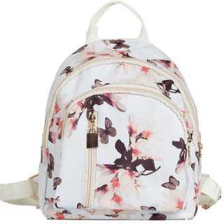 Korean White Butterfly Mini Backpack