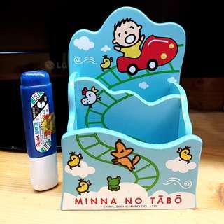 💓 清屋 ! 包順豐 ! 絕版 Sanrio 2001' 大口仔 木製 筆筒 遙控架