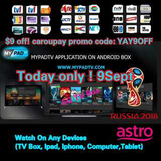 🚚 mypadTV ( On The Go) Premium Subscription for Android Box/ ipad / iphone / computer / laptop ( IPTV / ASTRO / Malaysia Channels / TV3 / Malay / TVB )