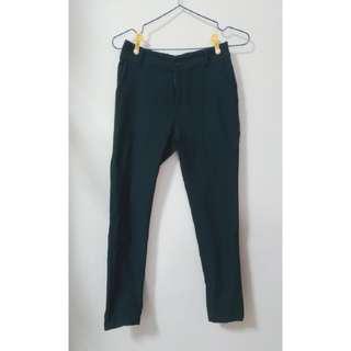 🚚 斜紋布後鬆緊彈性長褲