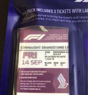 F1 Connaught Grandstand Friday tickets 14-Sep