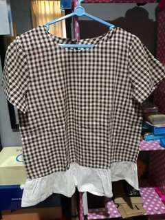 Myrubylicious blouse kotak coklat