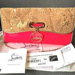 Christian Louboutin riveria clutch bag with chain 手袋手拿包