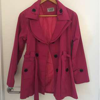 Pink Jacket with Waist Belt