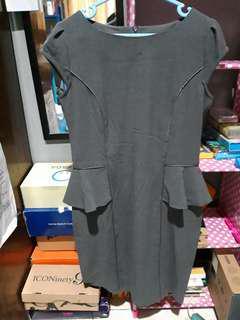Midi dress valino donna grey oficelook