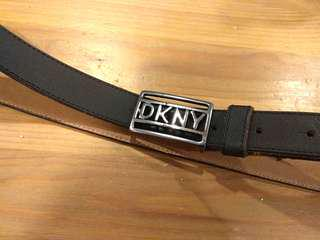 DKNY Black Leather Belt