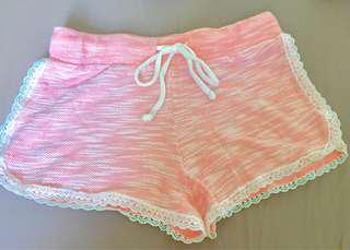 No Boundaries lounge shorts in CORAL