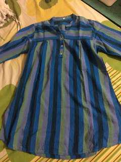 Blouse Biru Stripes