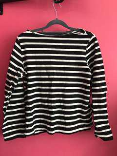 Uniqlo Boat Neck Striped Top