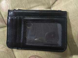 Black Thin Leather Card Wallet