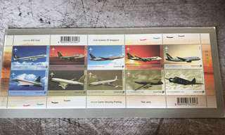 Singapore Airlines A345 LeaderShip stamps