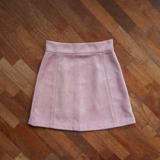 A-line Suede Skirt