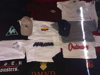 $10 streetwear,skateboard, surf branded tees + hats