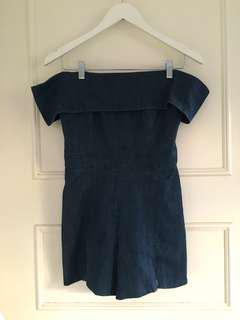 Seed denim playsuit